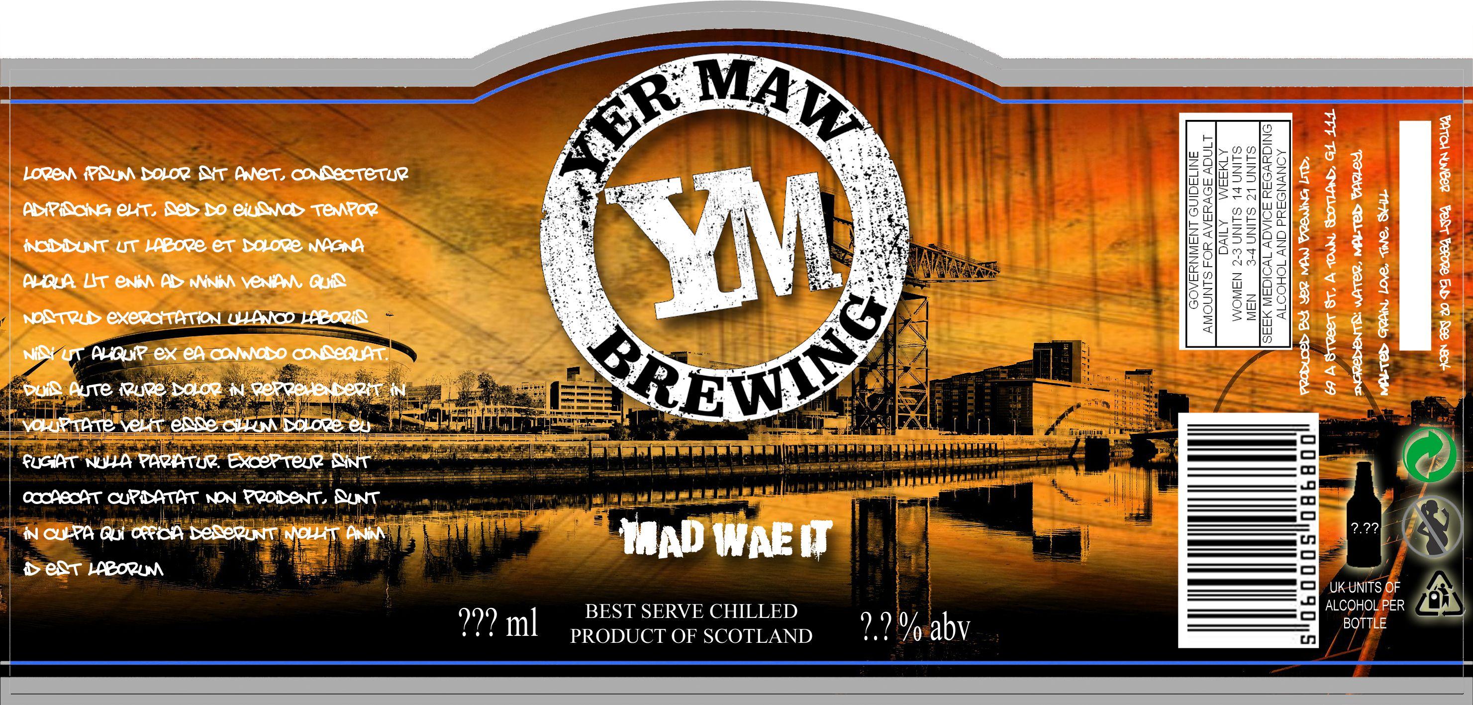 Yer Maw's Glasgow Ale, Wraparound_0.2